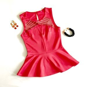 Spring/Summer Coral Top